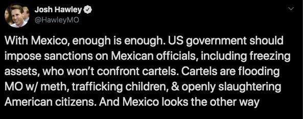 08/11/19, Estados Unidos, Lebarón, Sanciones México, Senador