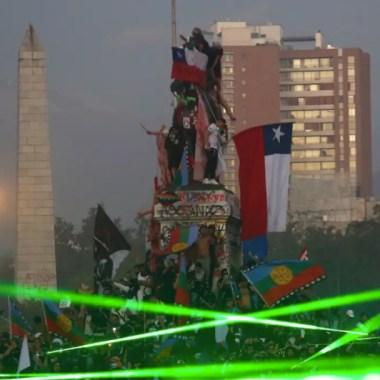 Manifestantes chilenos durante las protestas