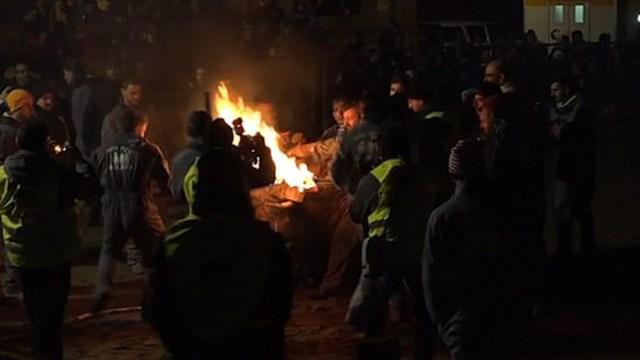 21/11/19, Toro, Fuego, España, Video