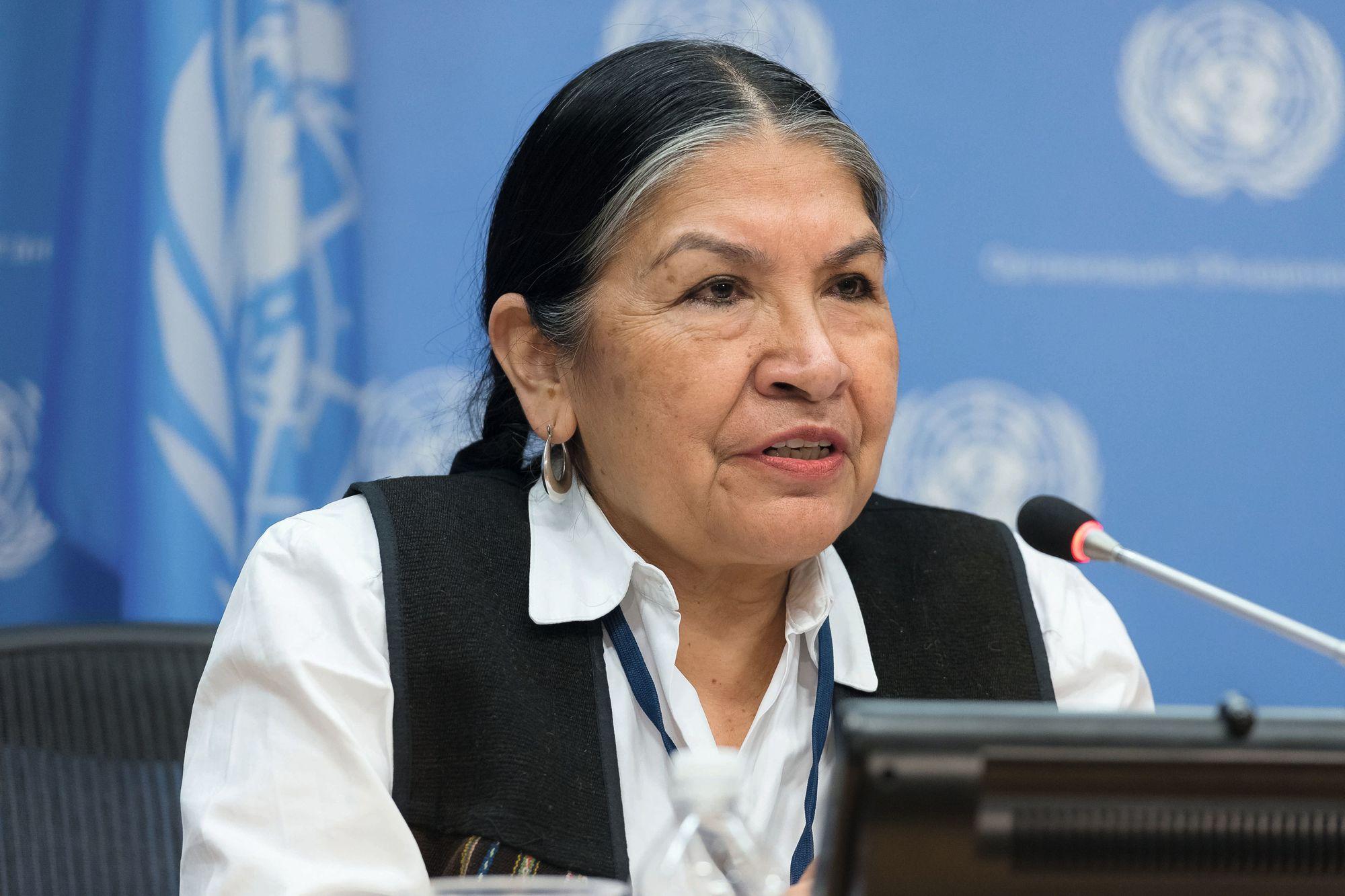 Tarcila Rivera, una de las feministas más destacadas de la década.