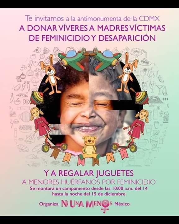 Colecta Para Huerfanos Por Victimas De Feminicidio