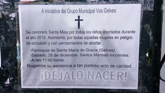 """Vox Organiza Misa Para """"Niños Abortados"""" y Es Cancelada Al Día Siguiente"""