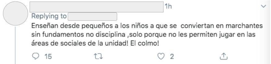 En Twitter usuarios se molestaron por la protesta de los niños