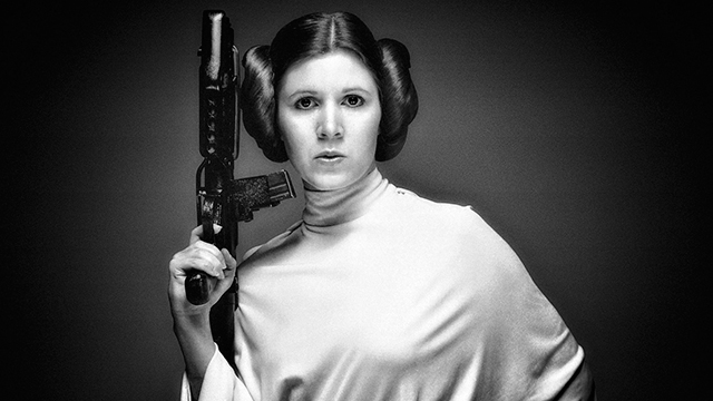 Carrie FIsher Princesa Leia Star Wars 2