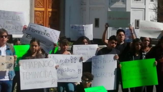 Protesta en Universidad Chapingo Por Muerte Nazaret Bautista