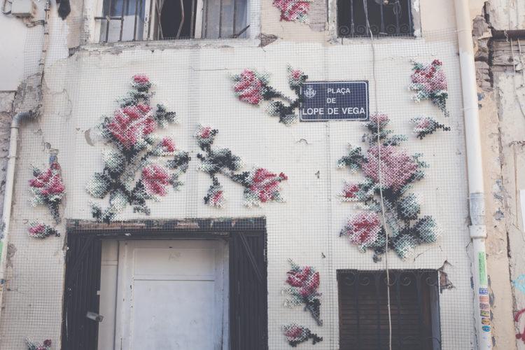 Arquicostura Street Art Con Punto De Cruz