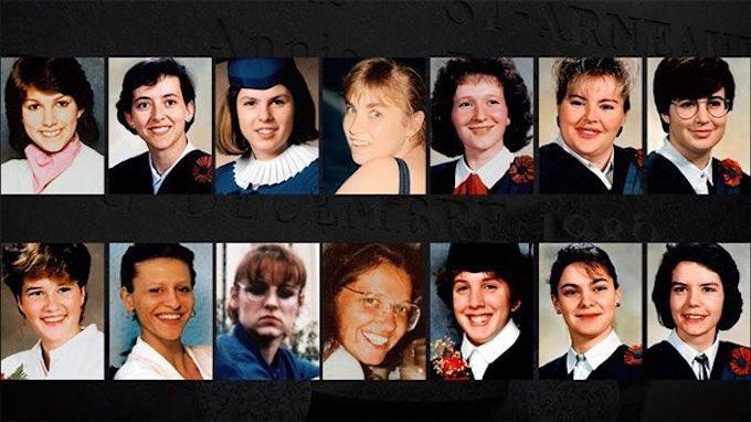 Estudiantes asesinadas durante el ataque antifeminista en Montreal.