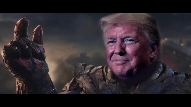 Trump se convierte en Thanos en video electoral.