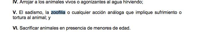 ¿Cómo se castiga un caso de zoofilia en México?