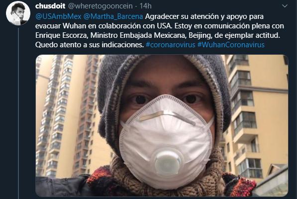 Mexicano, Wuhan, China, Coronavirus