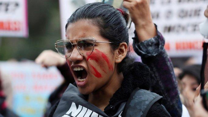 Protestas contra la violencia de género en Perú