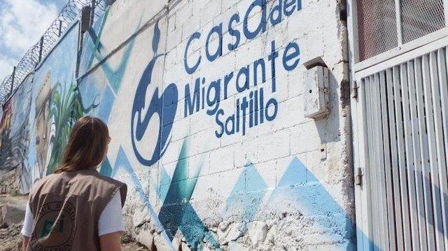 Hondureña embarazada fue rechazada en hospital y dio a luz en Casa del Migrante