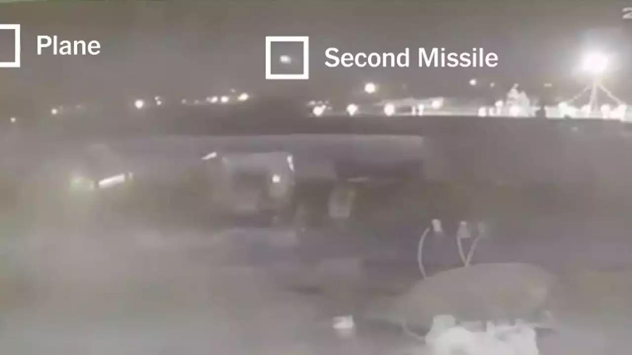 Video Prueba El Impacto De Dos Misiles Iraníes Contra El Avión Ucraniano