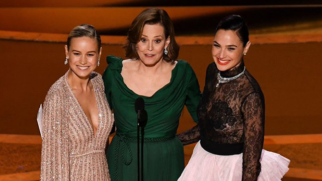 Gal-Gadot-Brie-Larson-Sigourney-Weaver-Oscar