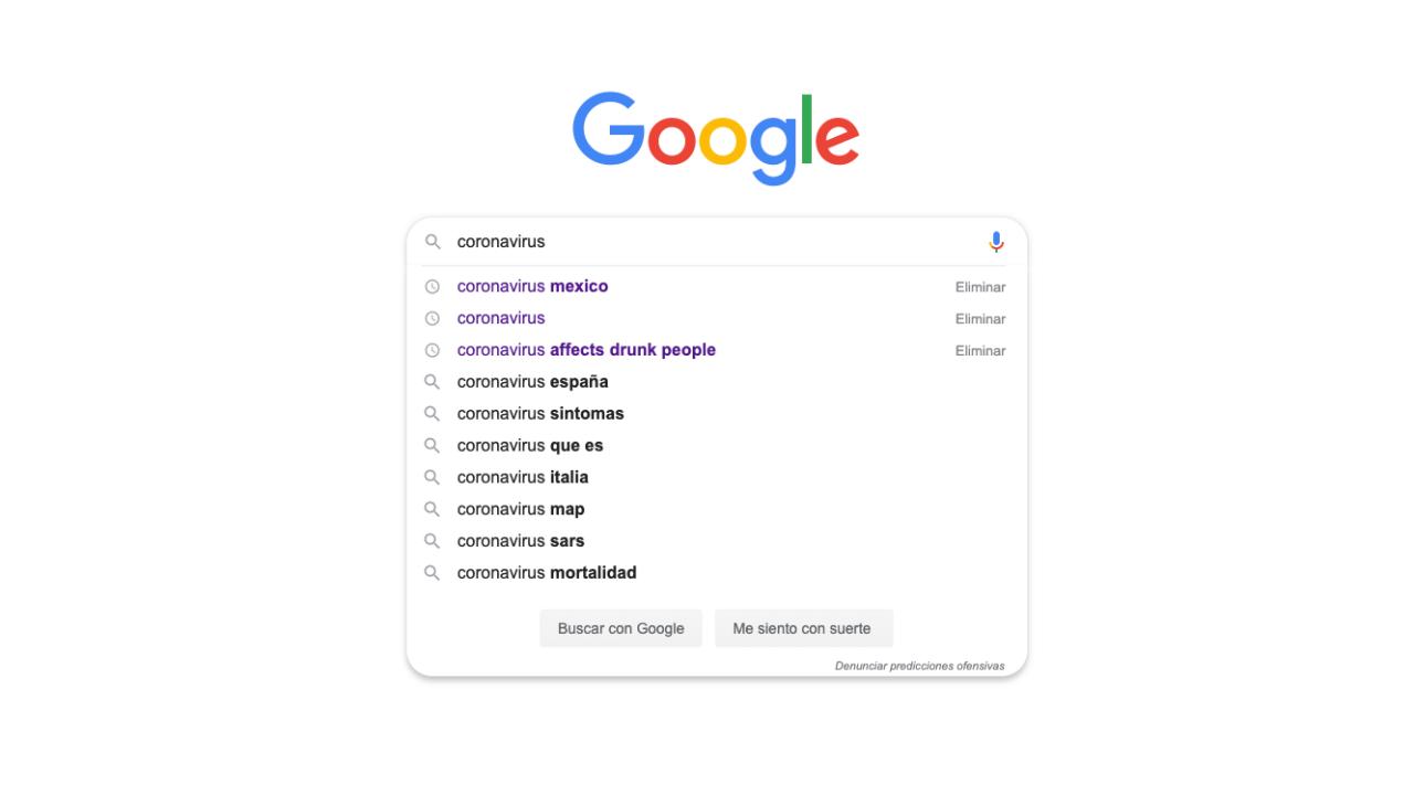 Las dudas más comunes sobre el coronavirus en Google