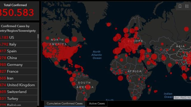 Estados Unidos es el país con más casos de coronavirus en el mundo