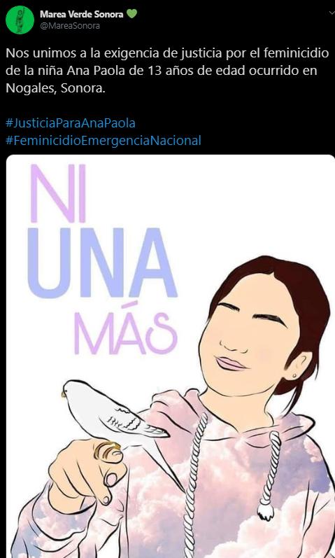 Ana Paola, Justicia, Feminicidio, Sonora