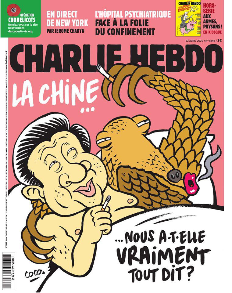 Charlie Hebdo, China, Coronavirus, Portada