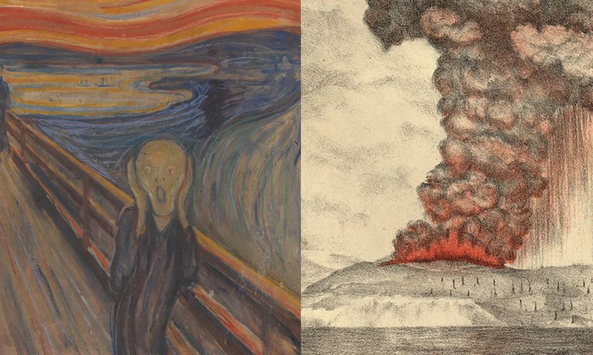 El Grito, Edvard Munch, Krakatoa, Erupción