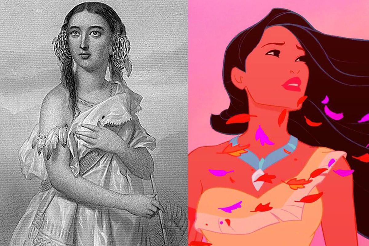 Pocahontas, Real, Historia, Disney