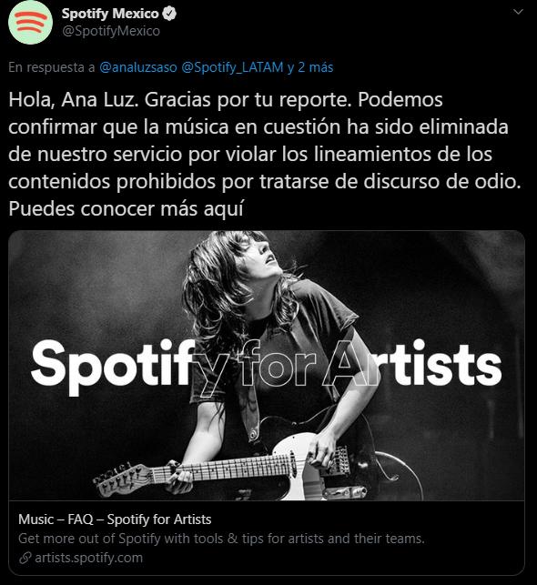 Johnny Escutia, Spotify, Borrar, Musica