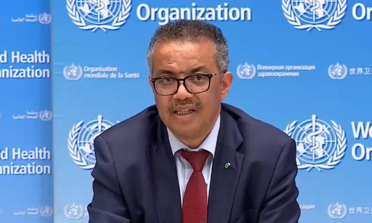 Director de la OMS informó que la semana que entra llegaremos a 10 millones de contagiados de coronavirus, captura de pantalla