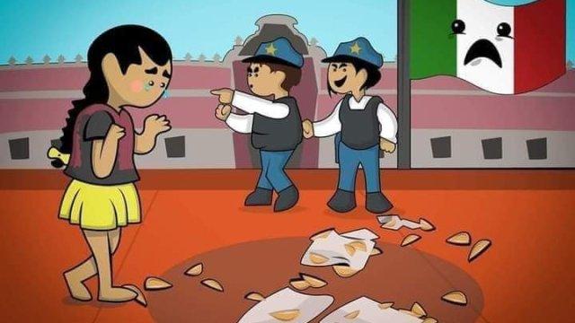 Desalojos de vendedores ambulantes en la Ciudad de México