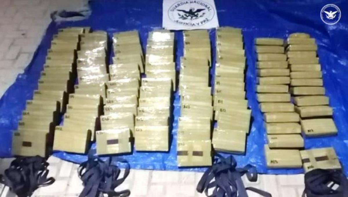 Guardia Nacional asegura metanfetamina Durango