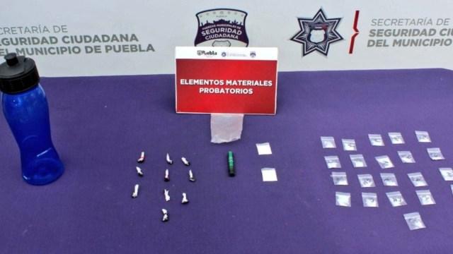 Menor de edad detenido en Puebla 30 dosis presunta droga