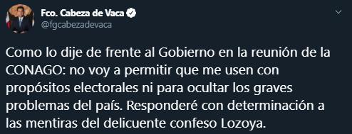 Ricardo Anaya, Felipe Calderon y otros señalados por las declaraciones de Emilio Lozoya reaccionar en redes sociales, Captura de Pantalla