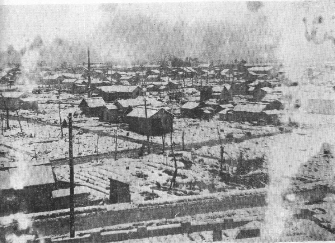 Durante la Segunda Guerra Mundial, Toyama fue arrasada por los bombardeos de Estados Unidos antes que Hiroshima y Nagasaki