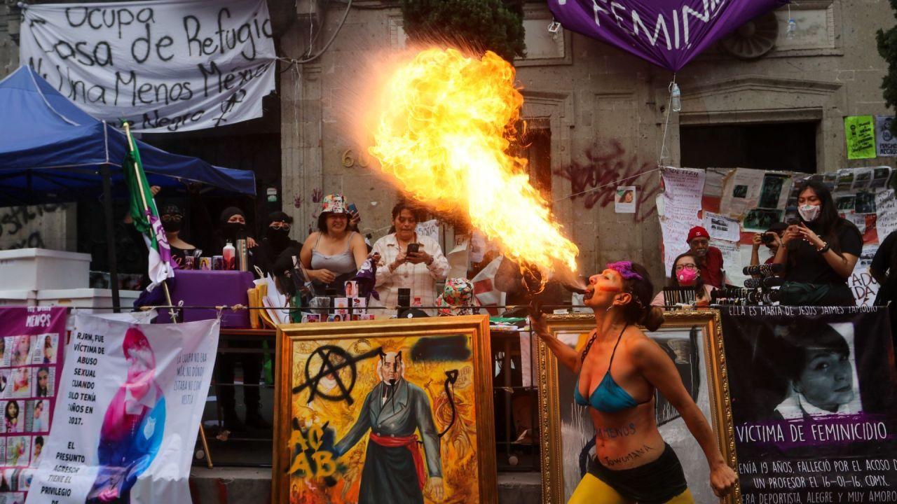 Cronología: ¿Cómo inició la okupa feminista en la CNDH?