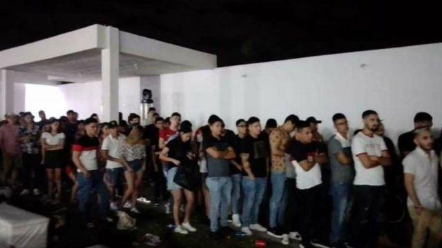 Fiesta COVID Cadereyta Nuevo León