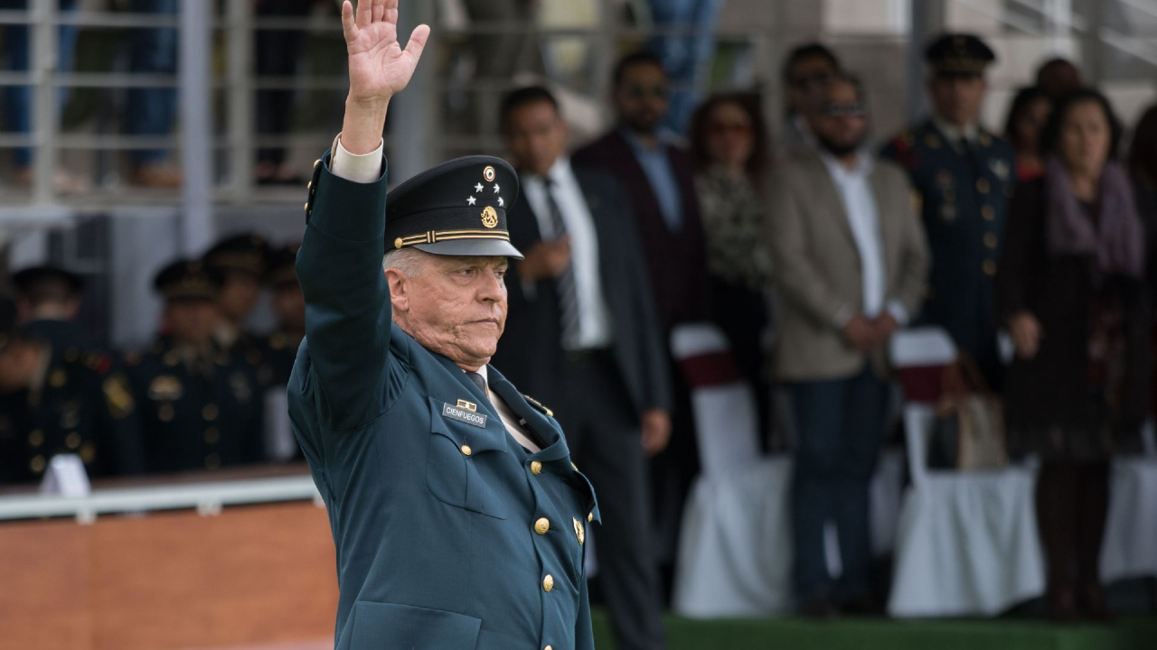 General Cienfuegos detenido narcotráfico y lavado de dinero