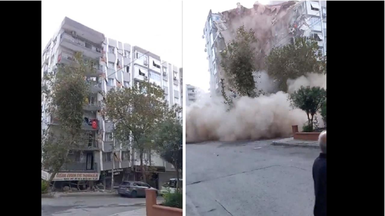 edificio colapsa sismo Turquía