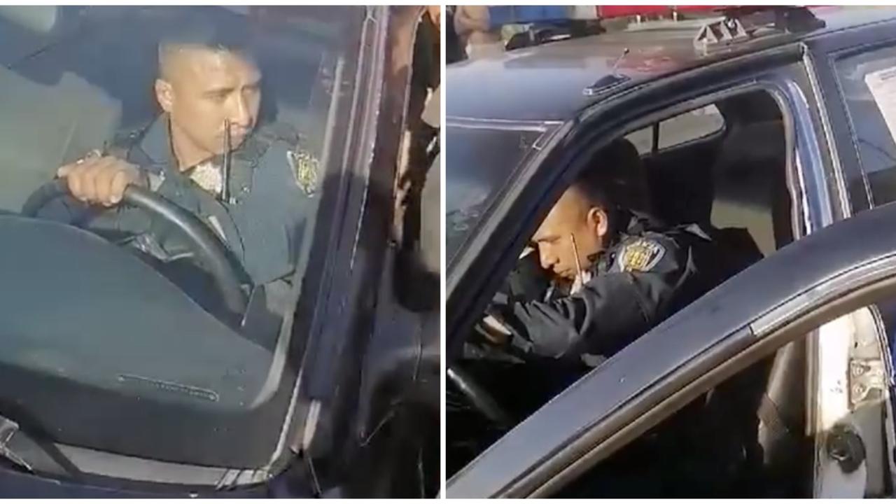 video policía estado de ebriedad Xochimilco CDMX
