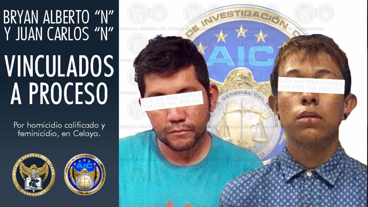 Bryan 'N' y Juan Carlos 'N' fueron detenidos e imputados en Guanajuarto por su implicación en la desaparición