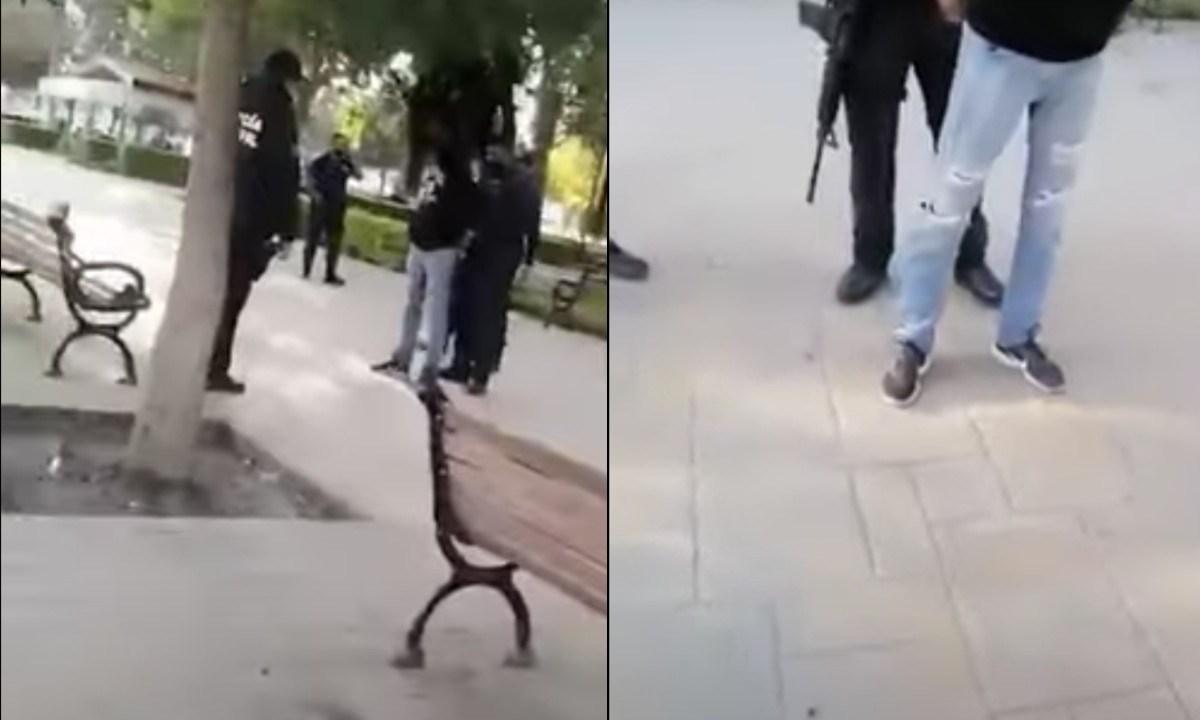 Monterrey: Policías arrestan a un joven por no usar cubrebocas [Video]