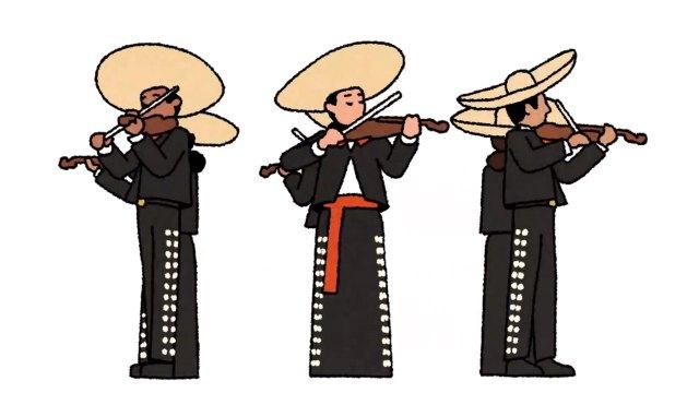 El doodle de Google celebra al mariachi, que el 22 de noviembre de 2011 fue incluido como Patrimonio Cultural Inmaterial de la Humanidad
