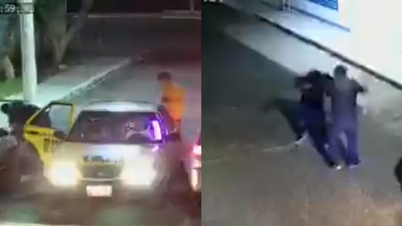 Un video muestra el momento en que una mujer es víctima de un asalto. Fue golpeada por los delincuentes. Ocurrió en Querétaro