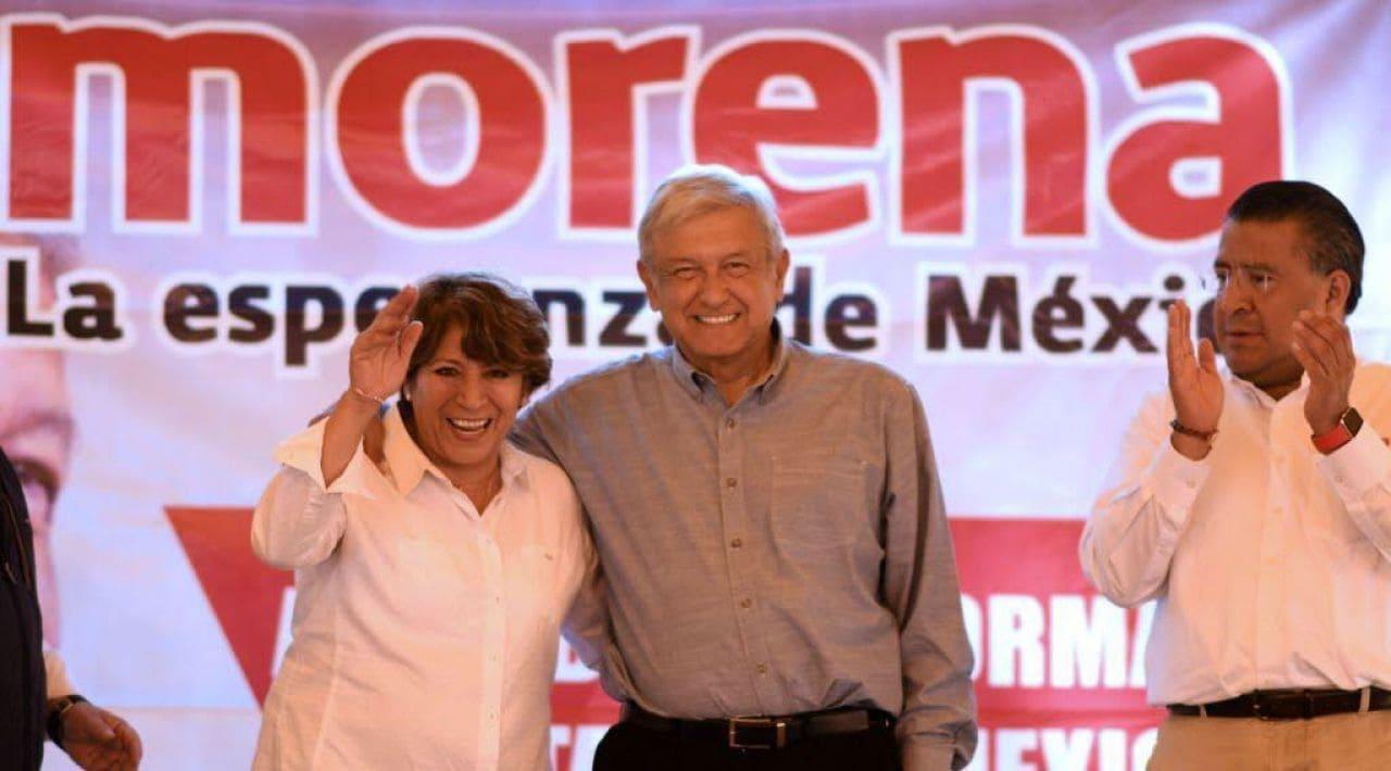 Delfina Gómez durante su campaña en el EDOMEX EN 2017