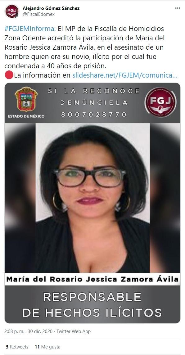 FGJEM 40 años cárcel mujer mató novio Edomex