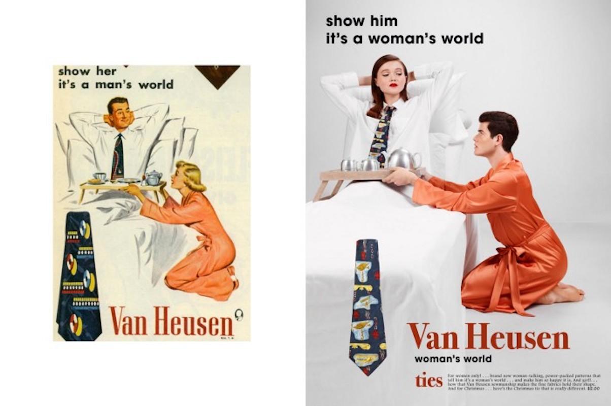 Artista parodia comerciales de los años 20 para mostrar lo absurdo del sexismo
