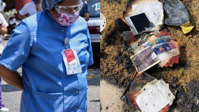 Casa de enfermera se incendia