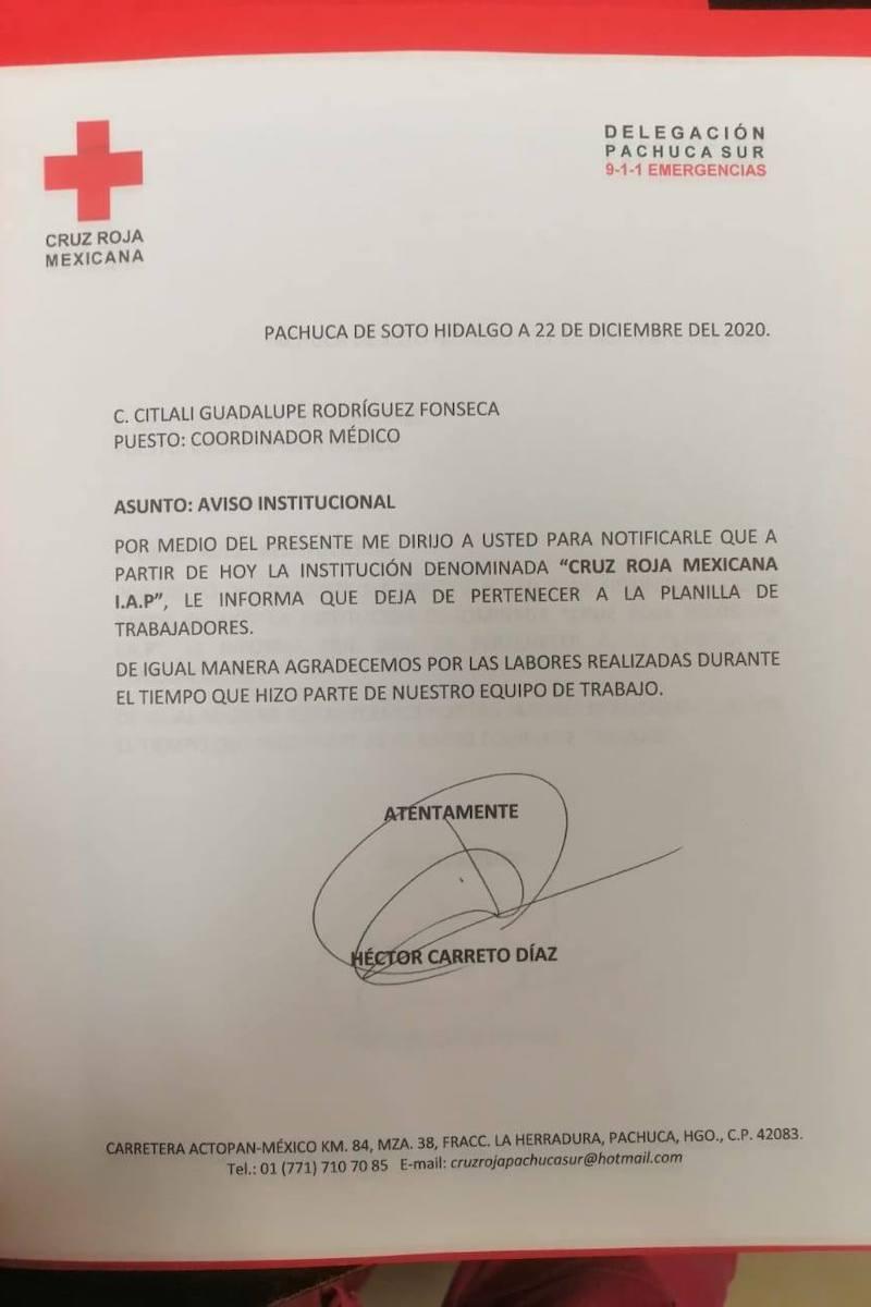 Despiden a médicos de Cruz Roja en Pachuca por pedir aguinaldo