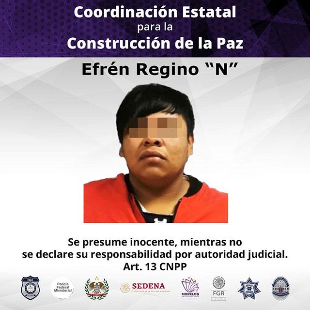 En Morelos, Efrén Regino violó y embarazó a una niña de 12 años. Tras la investigación, fue vinculado a proceso|