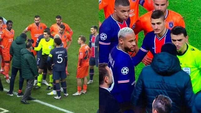 Tras acusaciones de racismo, el partido de PSG vs Instanbul fue suspendido, en un hecho histórico en la Liga de Campeones