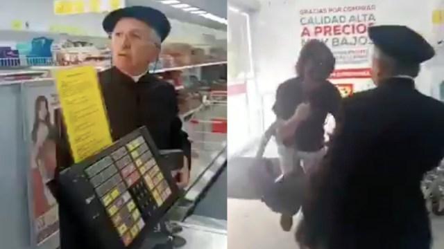 Sacerdote patea a personas que le reclaman por no usar cubrebocas [Video]