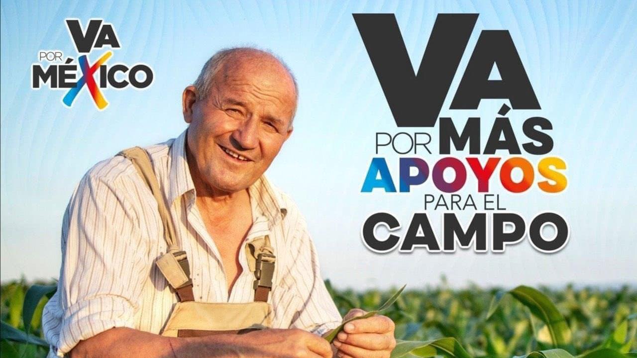 Va por México difundió en redes sociales una propaganda política con polémica imagen de un campesino mexicano
