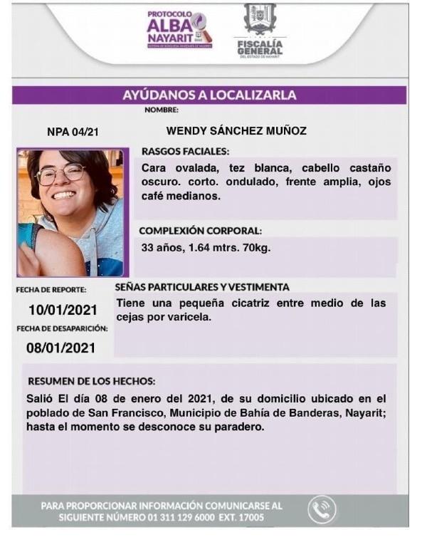 Alerta Alba Wendy Sánchez